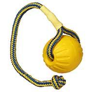 Palla da gioco con corda, 7,5 cm di diametro